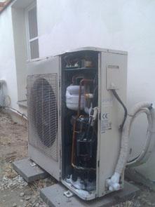 venkovni klimatizace namrzání ventilů